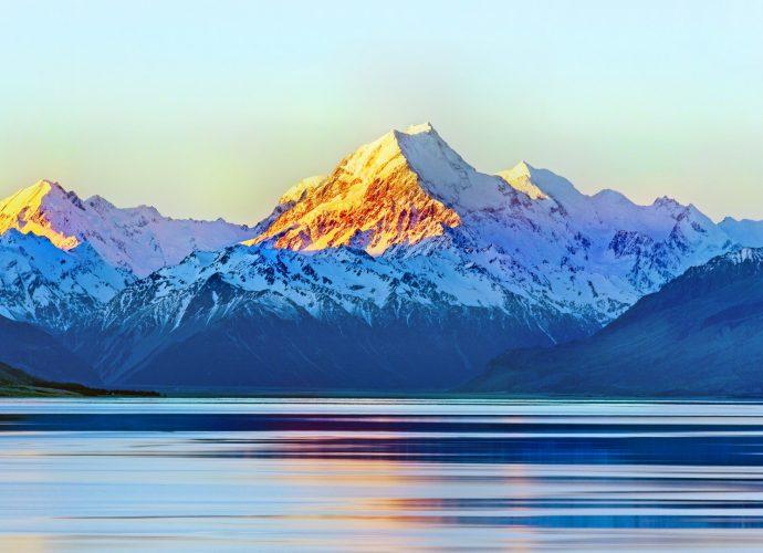 Гора Кука рассвет озеро горы вода