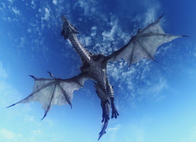 Ледяной дракон небо дракон