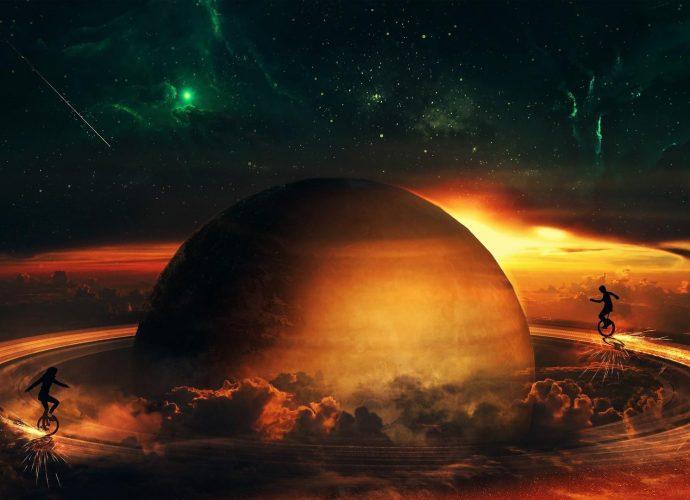 На кольцах Сатурна сатурн планеты космос