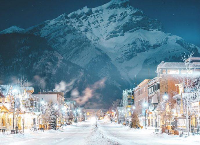 Национальный парк Банф канада зима горы