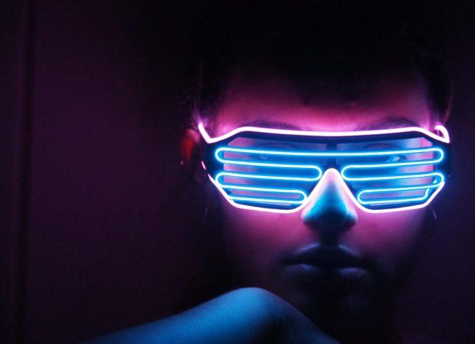 Неоновые очки очки неон