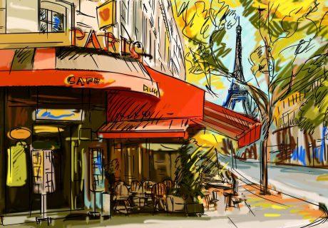 Парижское кафе париж кафе