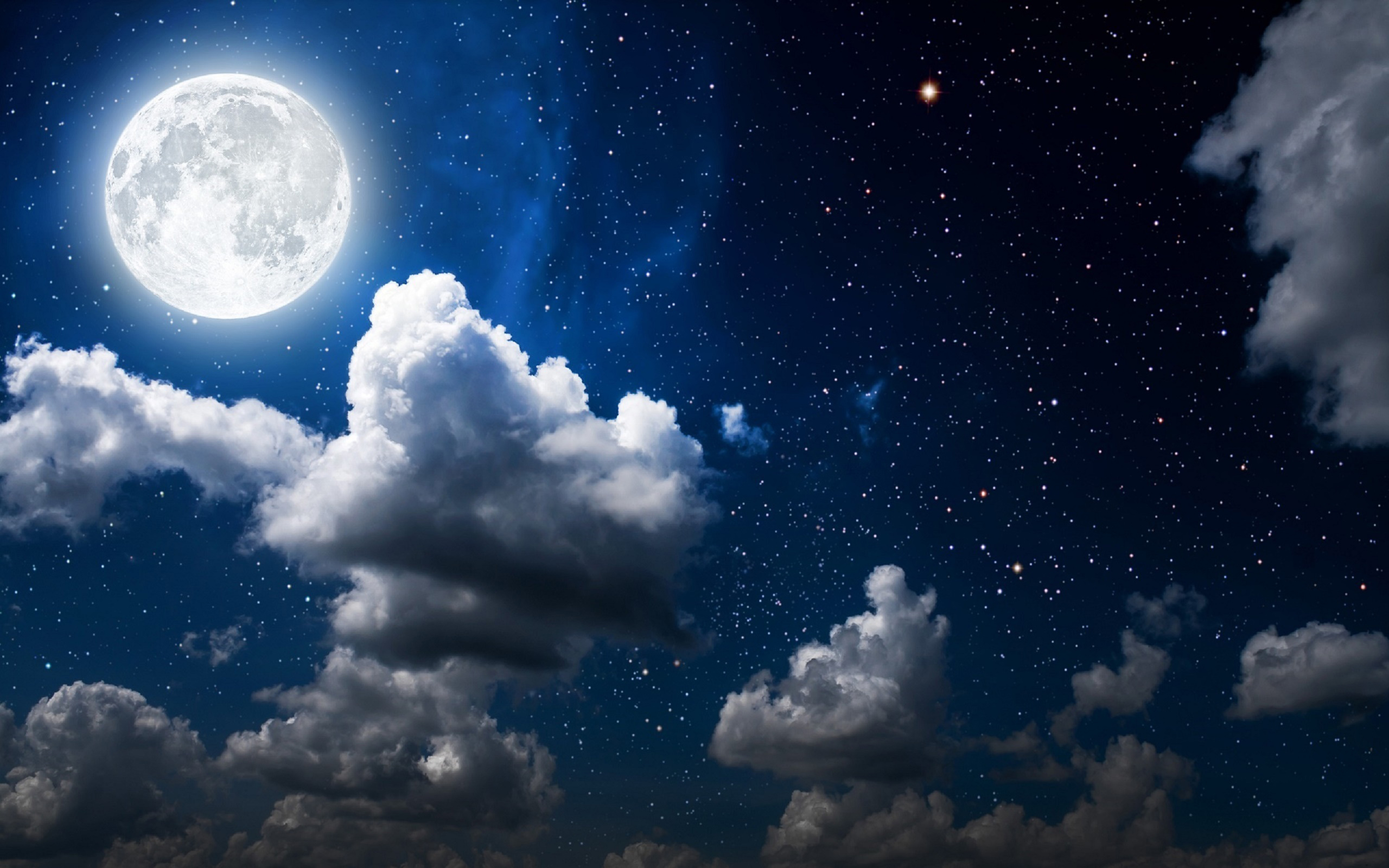Полнолуние ночь небо луна