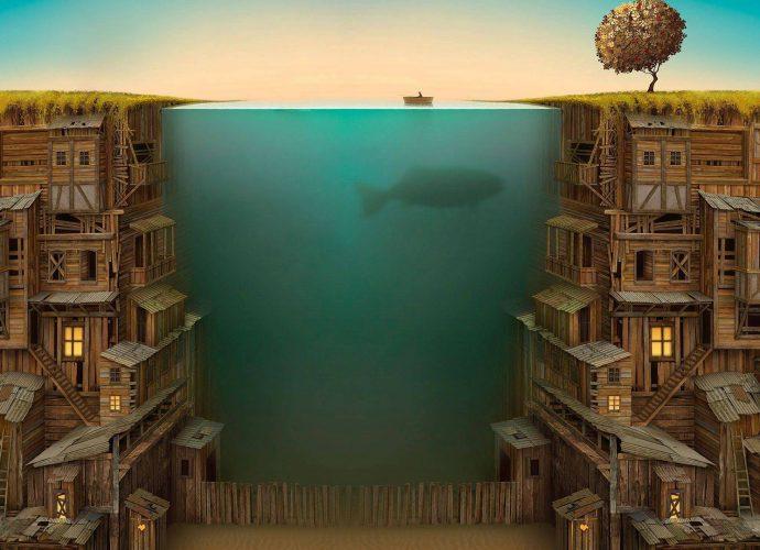 Рыба кит рыба море