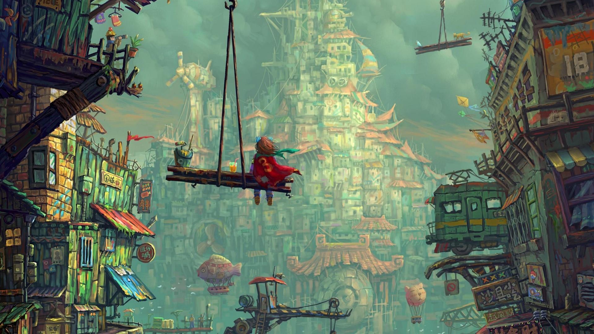Сказочные строители стройка сказка город