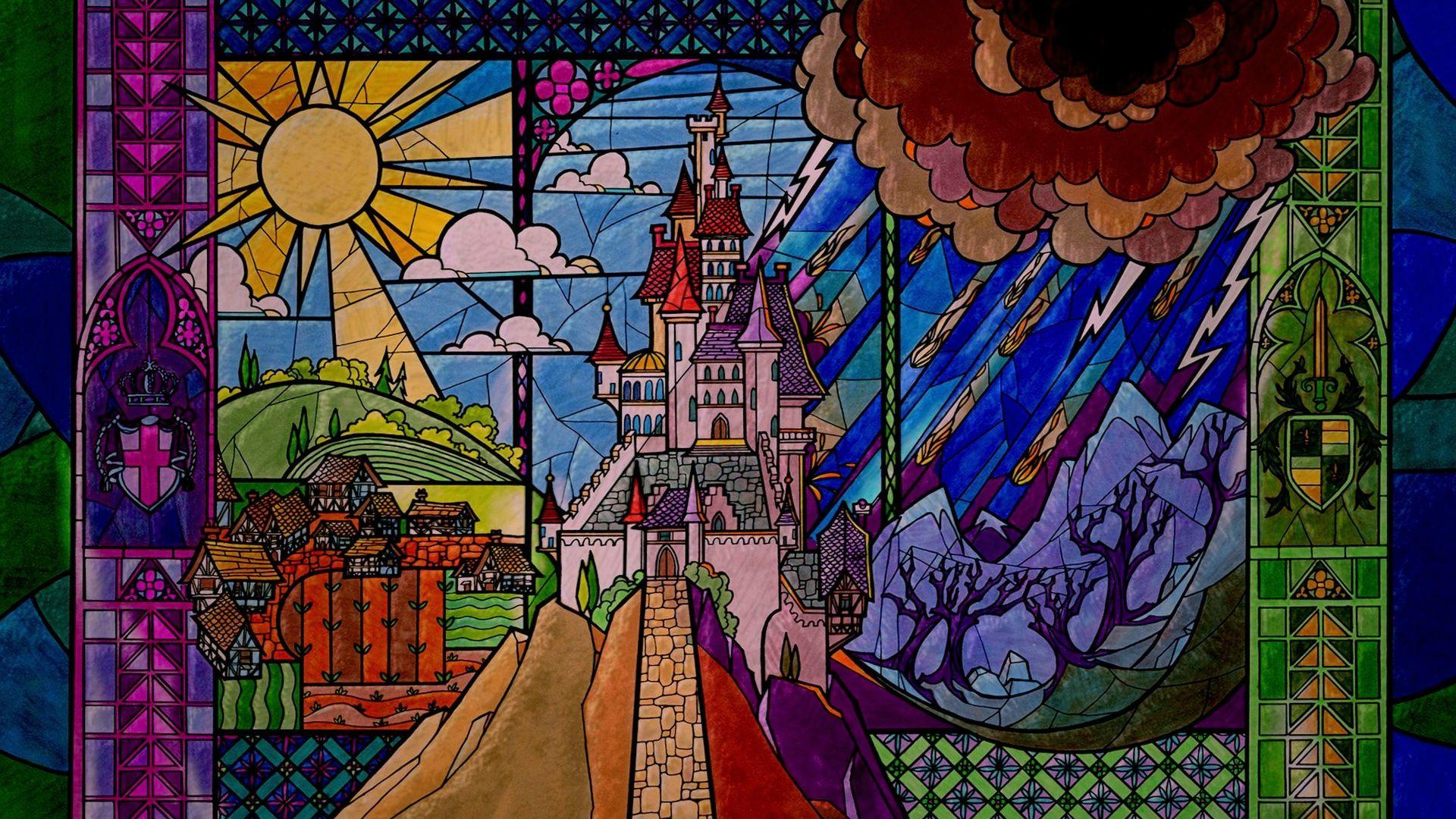 Витражи сказка замок