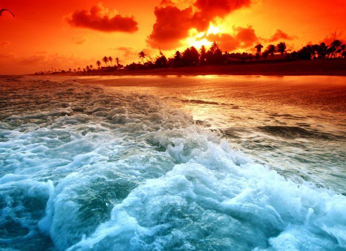 Закат на океане океан закат вода