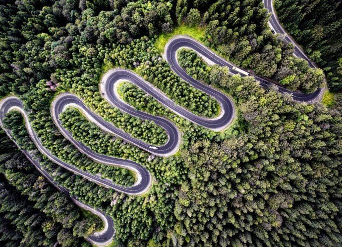 Бесконечная дорога дорога горы