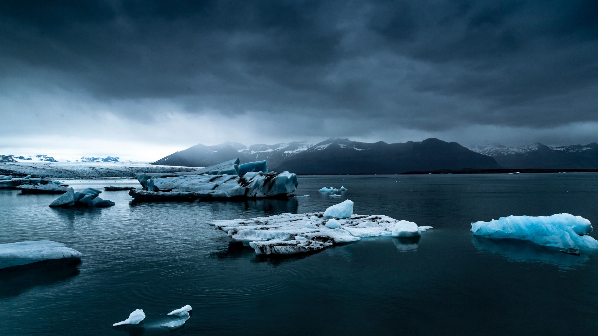 Ледники Исландии море лед горы