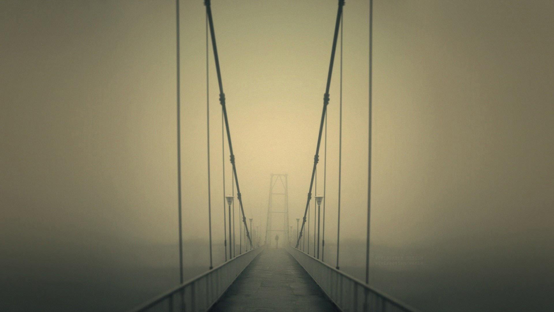 Мост в тумане туман мост