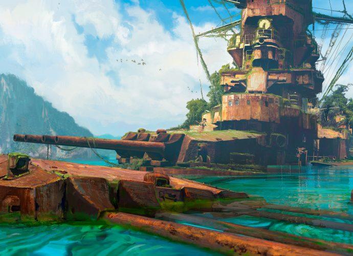 Заброшенный корабль море корабль