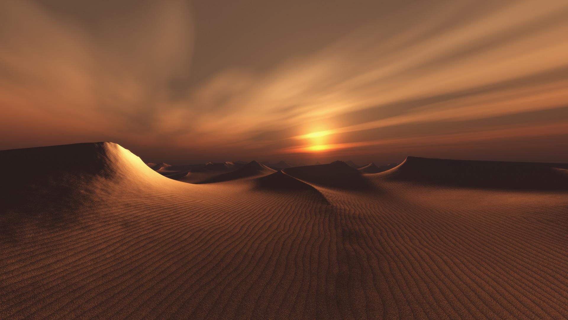 Закат в пустыне пустыня закат