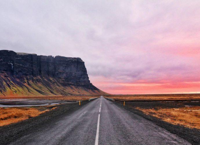 Дорога в закат закат дорога горы