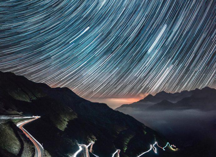 Горная дорога ночь звезды дорога