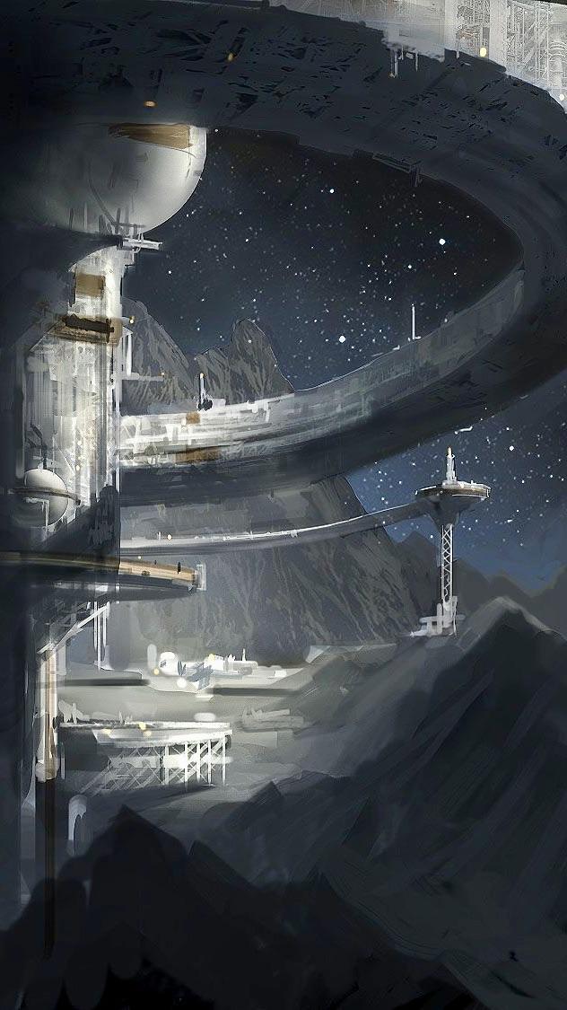 Космическая станция будущего фантастика космос