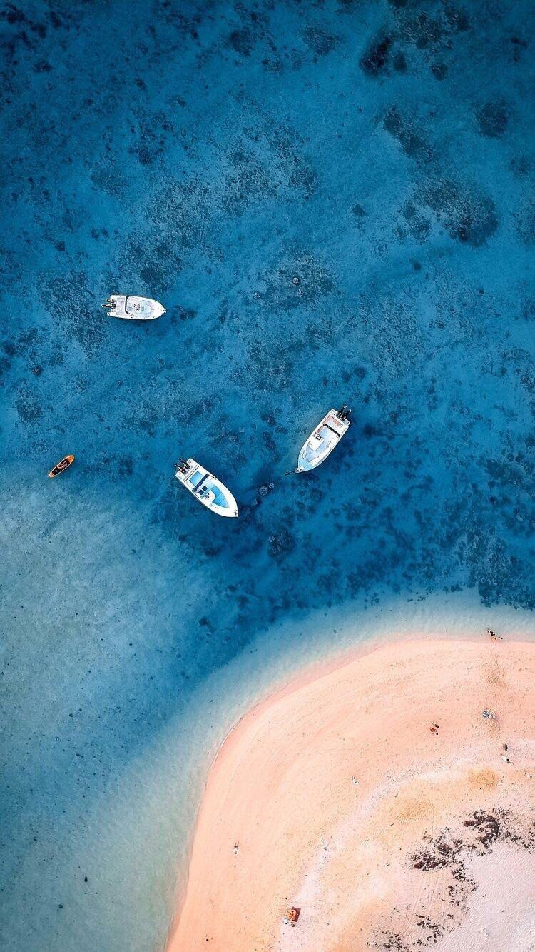 Райский остров пляж остров море корабль