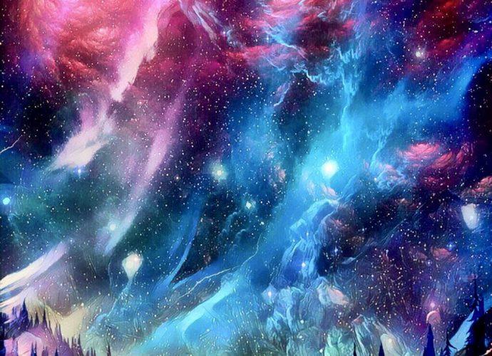 Северное сияние северное сияние небо звезды
