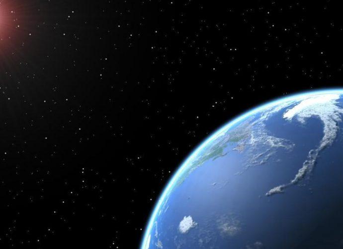 Вид с орбиты космос земля звезды