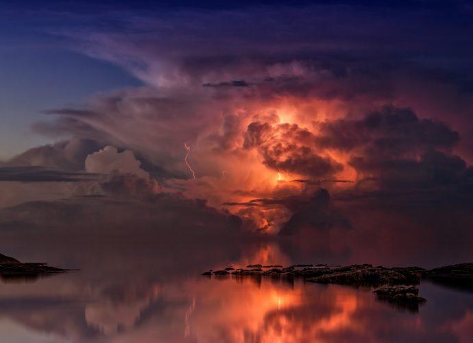 Гроза облака небо гроза