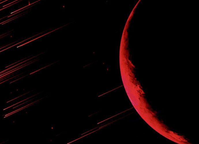 Кроваво-красная луна луна звезды