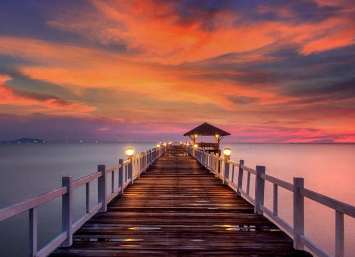Романтический закат море вечер
