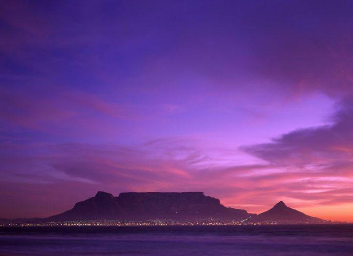 Столовая гора Южная Африка горы