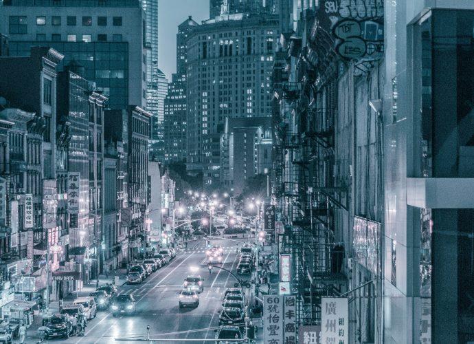 Чайна-таун небоскребы город
