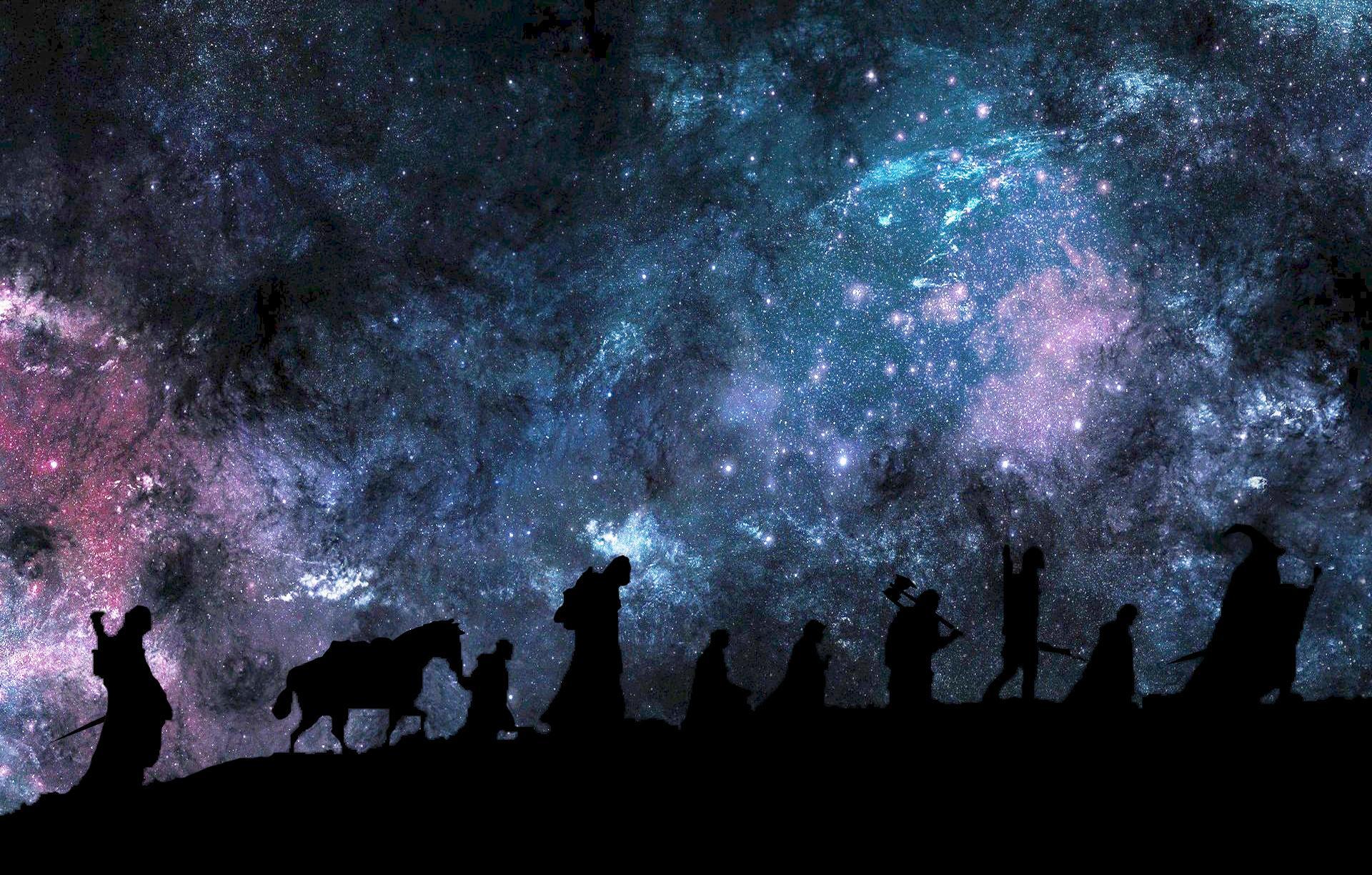 Путь в Мордор ночь Мордор звезды Властелин колец