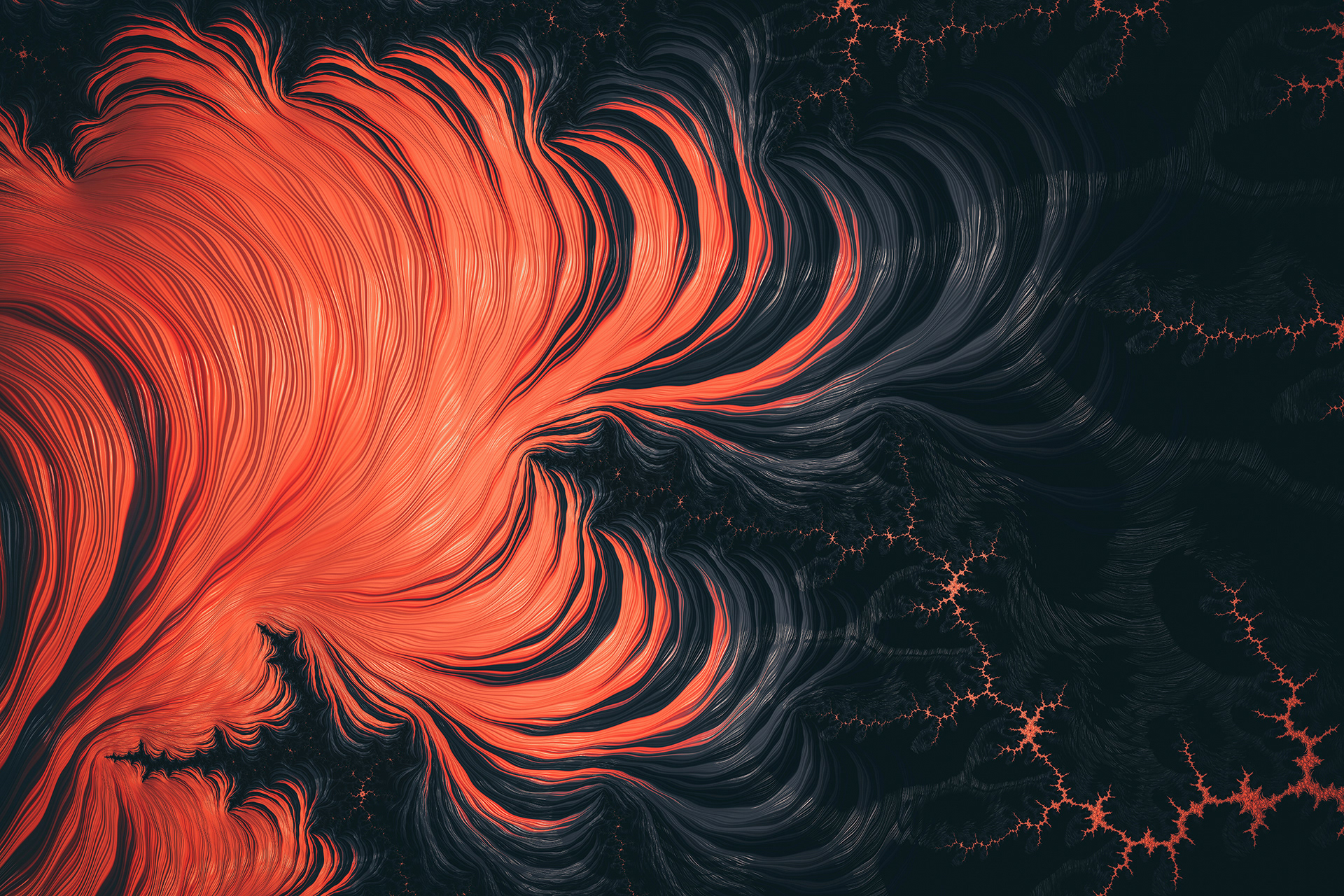 Огненный цветок фракталы лава