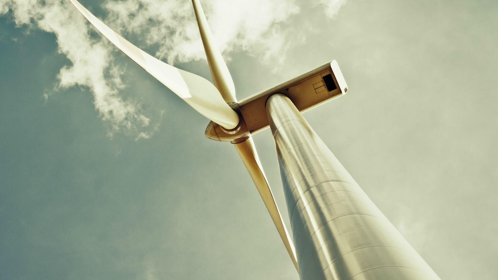 Ветряной генератор энергия облака небо ветряной генератор