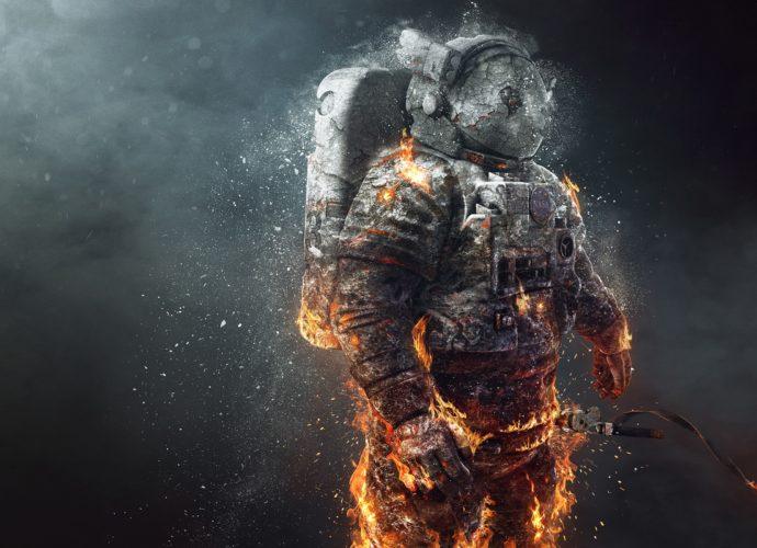 Лед и пламень в космосе фантастика огонь лед космос космонавт астронавт