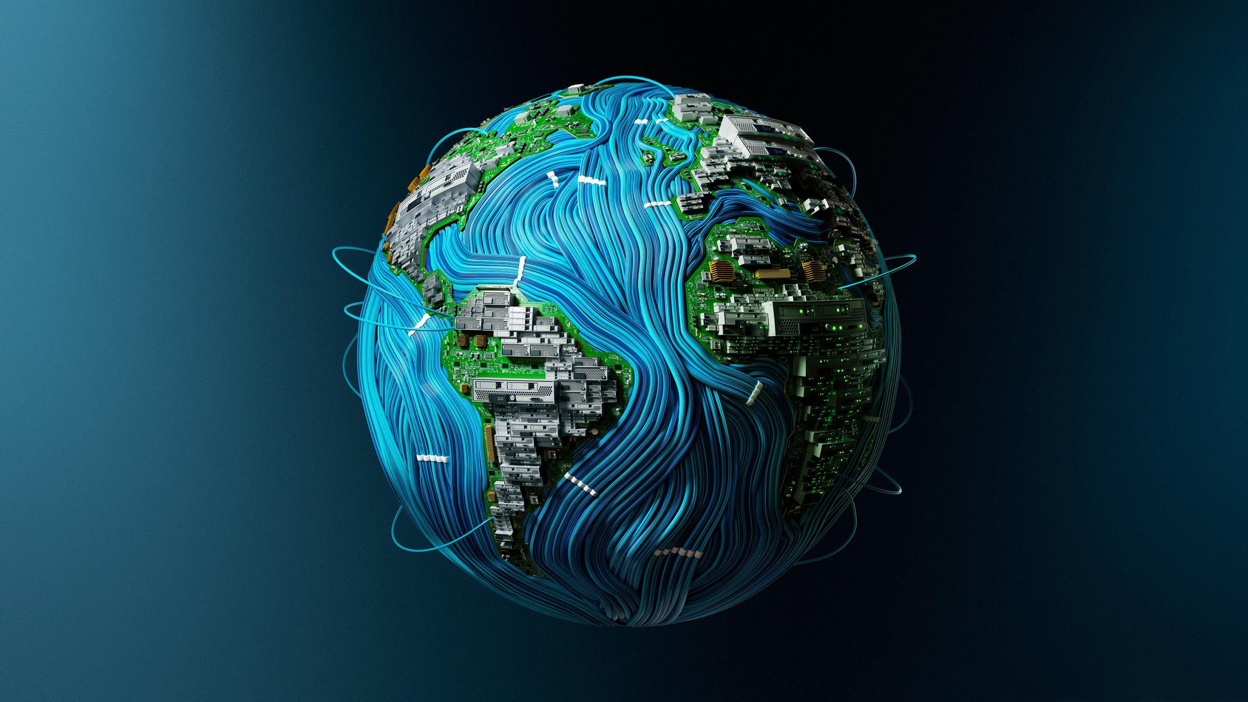 Мир высоких технологий сеть космос компьютер интернет земля