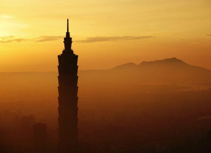 Тайбэй туман Тайвань Тайбэй восход восток
