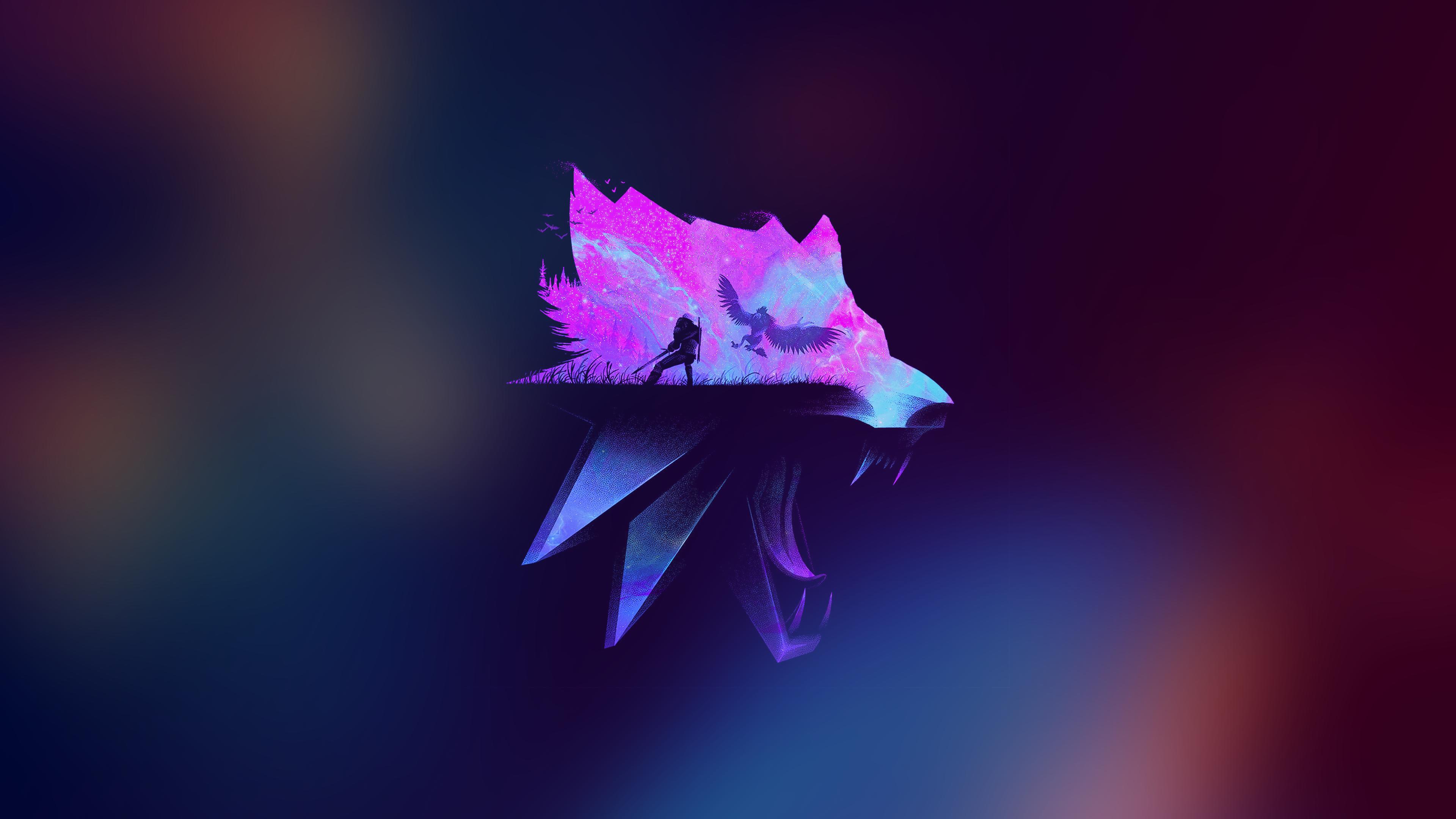 Космический Ведьмак орел космос волк ведьмак