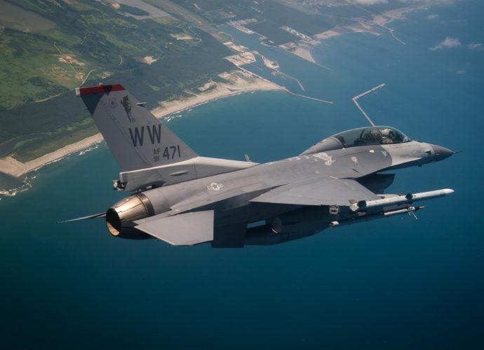 F-16 самолет небо F-16