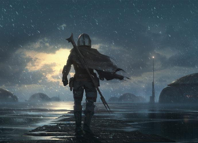 Мандалорец - ледяная планета снег планеты мандалорец космос космонавт