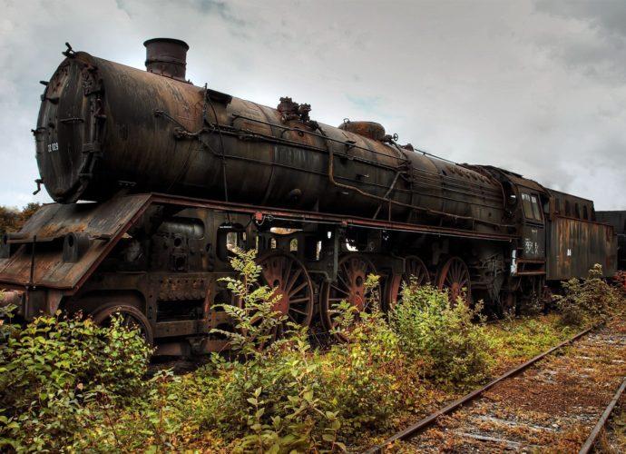 Наш паровоз на запасном пути поезд паровоз