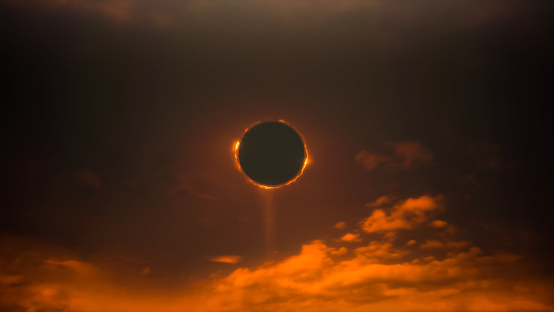 Солнечное затмение солнце облака небо затмение