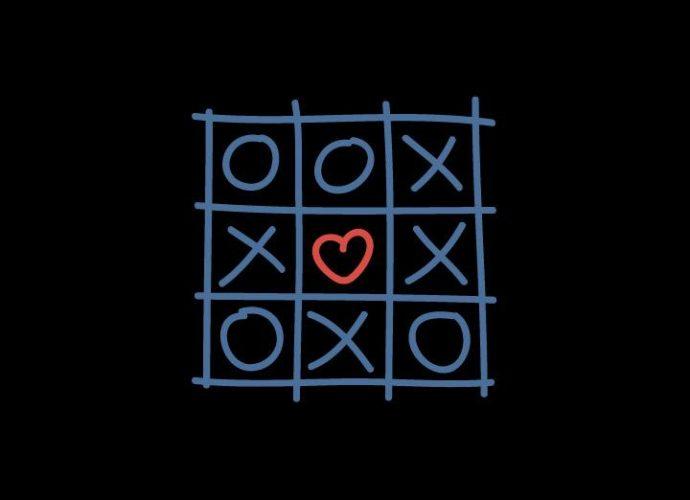 Крестики-нолики рисунок любовь крестики-нолики