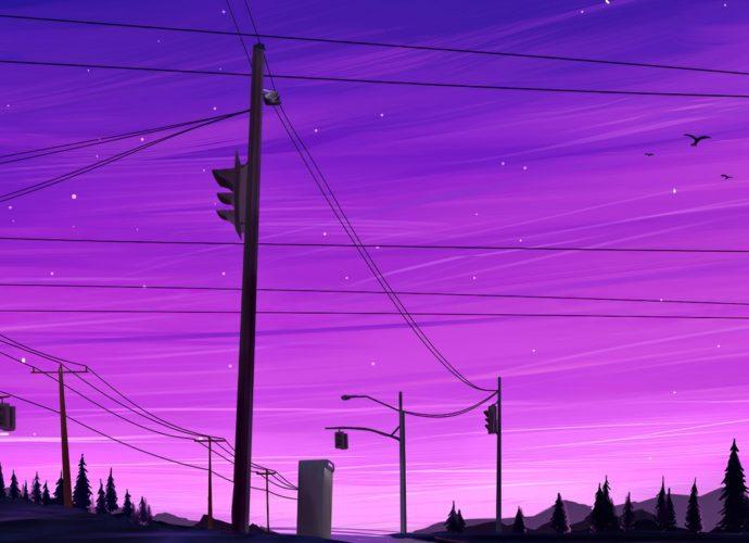 Ночное небо ночь луна звезды дорога