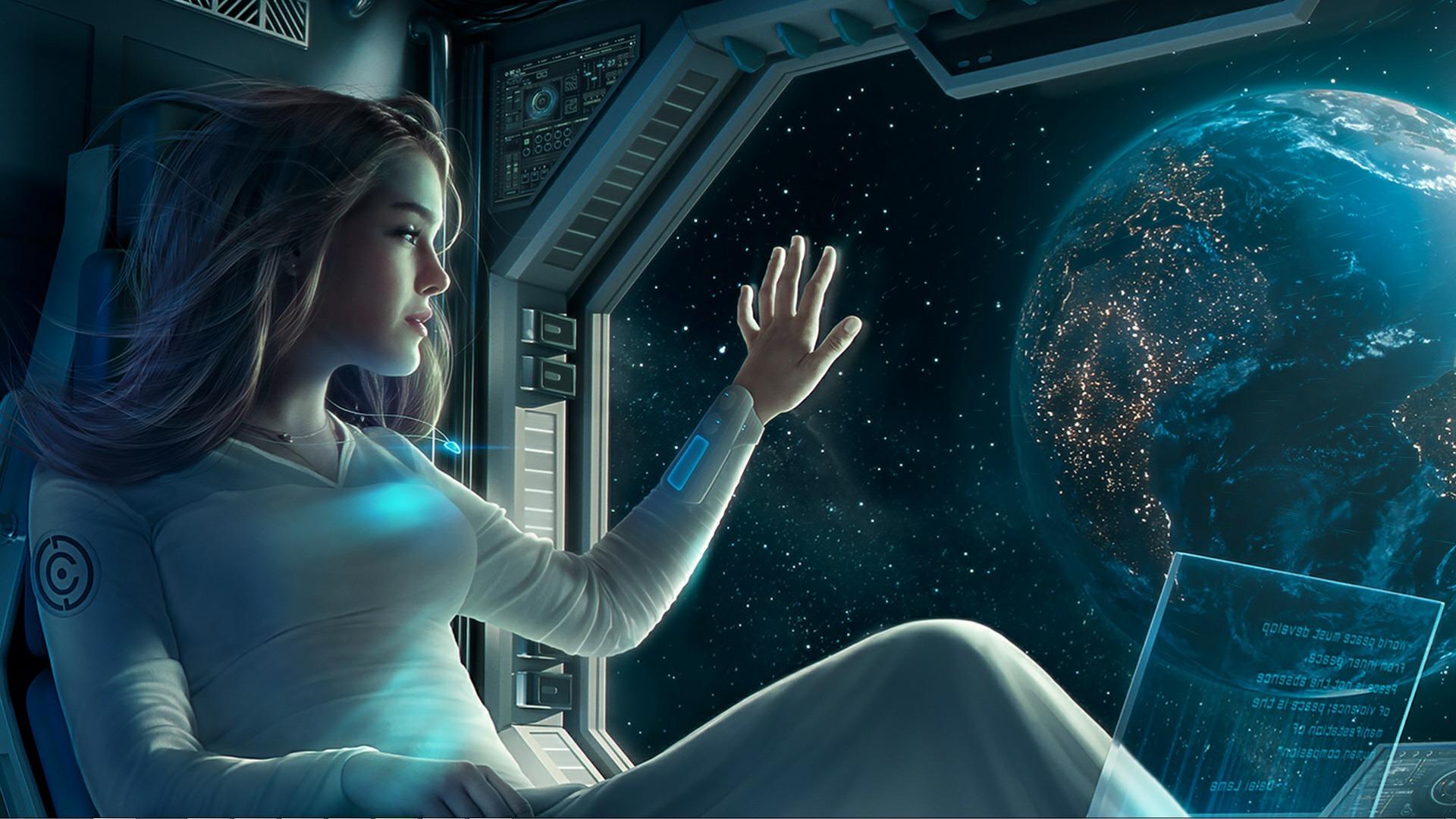 Мир на земле космос земля звезды девушка