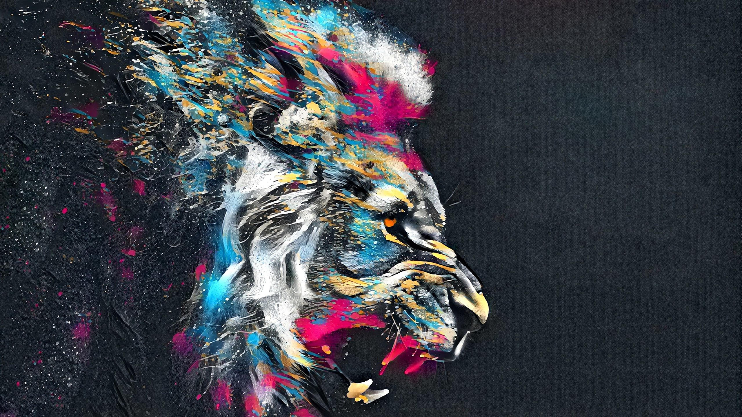 Красочный лев лев краски