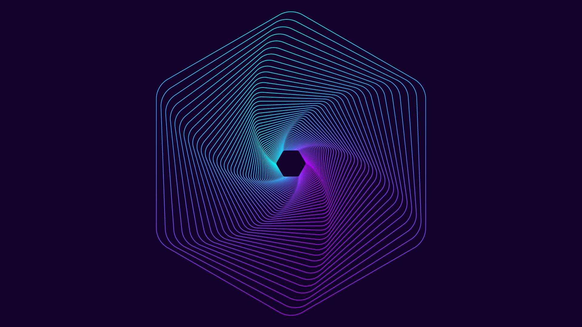 Шестиугольник неон