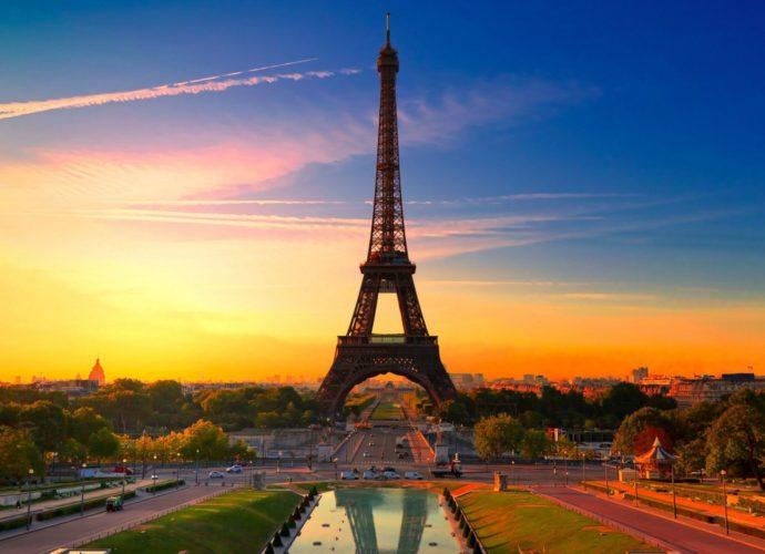 Эйфелева башня Эйфелева башня Франция париж небо город