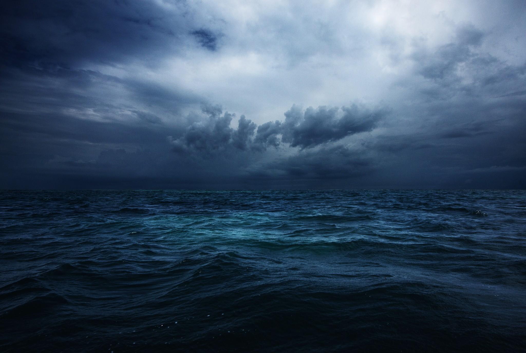 В ожидании шторма шторм облака небо море