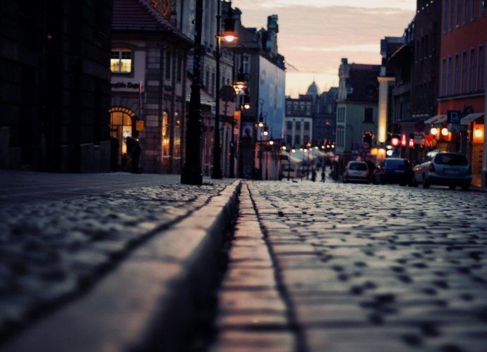 Тротуары Лондона Лондон дорога город вечер Великобритания