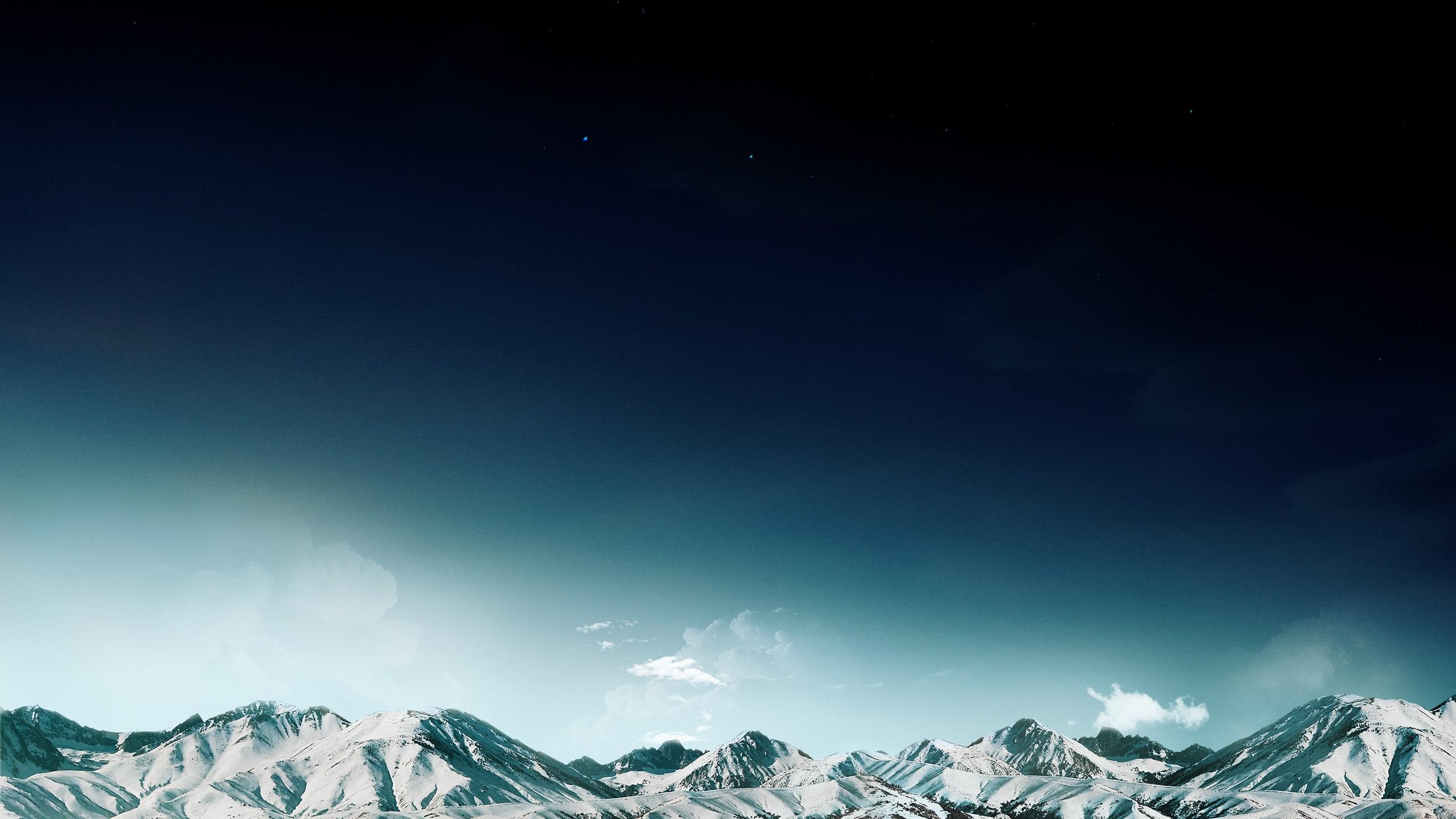 Снег в горах снег небо звезды горы