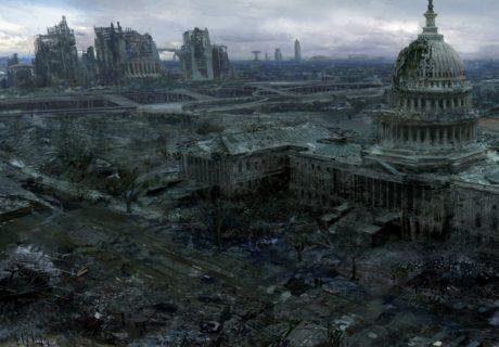 Руины Белого Дома США город Белый Дом Fallout