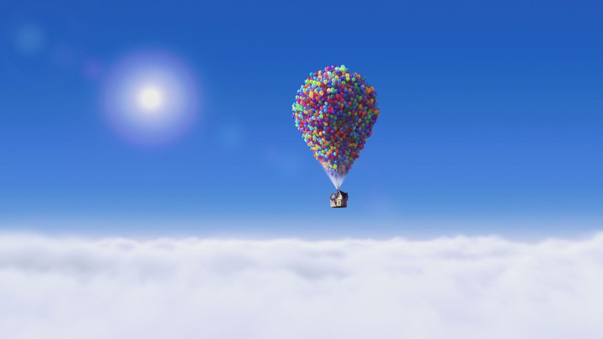 Вверх! облака небо воздушный шар вверх