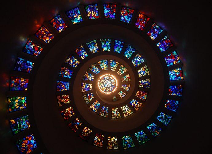 Витражи цвета цвет свет витражи башня